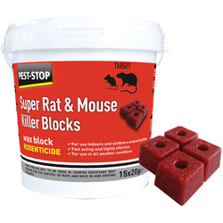 Pest-Stop Pest-Stop Mouse & Rat Killer Sachets Wax Blocks 15 x 20g - 35449 - from Toolstation