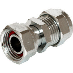 "Straight Tap Connector Chrome Plated 15mm x 1/2"" - 35465 - from Toolstation"