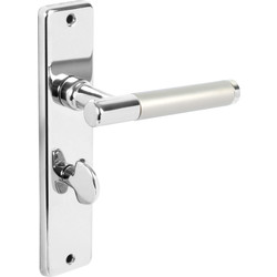 Biarritz Door Handles Bathroom Twin Tone