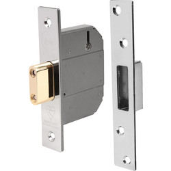 Yale BS 5 Lever Mortice Deadlock 76mm Pol. Chrome - 35719 - from Toolstation