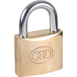 Tri Circle Tri-Circle Brass Padlock 50 x 9 x 25mm - 35727 - from Toolstation
