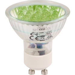 CED LED Glass GU10 Lamp Green - 35733 - from Toolstation