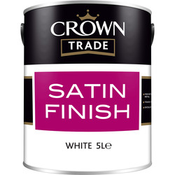 Crown Trade Crown Trade Satin Paint 5L White - 35756 - from Toolstation