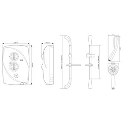 Triton T80 Easi-Fit Electric Shower Satin