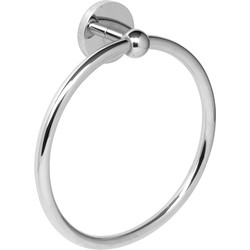 Eclipse Polished Towel Ring Chrome - 35789 - from Toolstation
