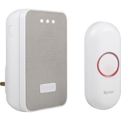 Byron Byron Wireless Plug In Doorbell Set DBY-22322UK - 35855 - from Toolstation