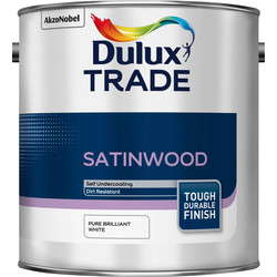 Dulux Trade Dulux Trade Satinwood Paint 2.5L Pure Brilliant White - 35856 - from Toolstation