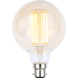 Inlight Vintage LED Filament G95 Globe Bulb Lamp 6W BC 550lm Tint - 35916 - from Toolstation