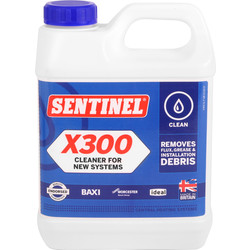 Sentinel Sentinel X300 Cleaner for New Systems 1L - 36023 - from Toolstation