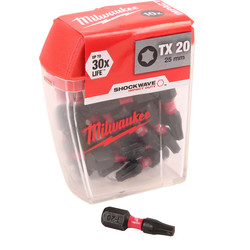 Milwaukee Milwaukee Shockwave Impact Screwdriver Bits TX20 x 25mm - 36098 - from Toolstation