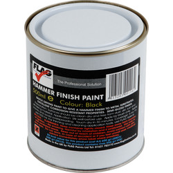 Flag Hammer Finish Metal Paint 500ml Black - 36133 - from Toolstation