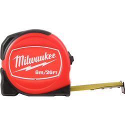 Milwaukee Milwaukee Slim Tape Measure 8m/26ft - 36152 - from Toolstation
