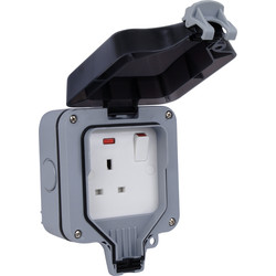 BG BG IP66 13A Switched Socket 1 Gang - 36199 - from Toolstation