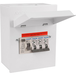 axiom axiom axiom metal 17th edition garage/workshop consumer unit 3 way -  36399 - from