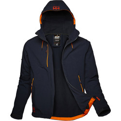 Helly Hansen Helly Hansen Chelsea Evolution Softshell Jacket Small Navy - 36541 - from Toolstation