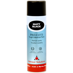 Industrial Spray Paint 500ml Matt Black - 36577 - from Toolstation