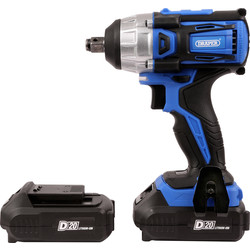 Draper Draper D20 20V Li-Ion Compact Brushless Cordless Impact Wrench 2 x 2.0Ah - 36614 - from Toolstation