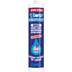 Evo-Stik Evo-Stik Trade One Hour Sanitary Silicone 290ml White - 36676 - from Toolstation