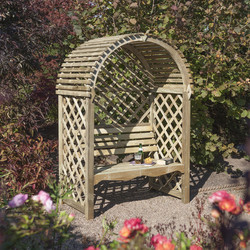 Rowlinson Rowlinson Victoria Arbour 199cm (h) x 134cm (w) x 80cm (d) - 36682 - from Toolstation