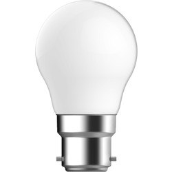 Energetic Lighting Energetic LED Filament Frosted Ball Lamp 4.4W BC 470lm - 36710 - from Toolstation