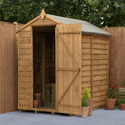 Forest Forest Garden Overlap Dip Treated Shed - No Window 6' x 4' - 36718 - from Toolstation