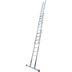 Lyte Ladders Lyte Domestic Extension ladder 3 section, Closed Length 2.7m - 36738 - from Toolstation