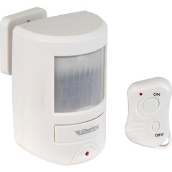 Sterling Sterling Wireless PIR Motion Sensor Alarm With Remote  - 36760 - from Toolstation