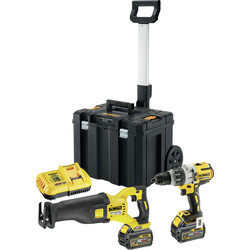 DeWalt DeWalt DCK2057T2T-GB 18V XR Li-Ion Combi Drill & 54V XR FlexVolt Reciprocating Saw 2 x 6.0Ah - 36824 - from Toolstation