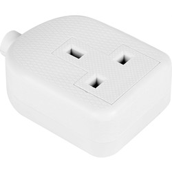 Extension Sockets 1 Gang White - 36884 - from Toolstation