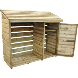Forest Forest Garden Log & Tool Store 152cm (h) x 176cm (w) x 69cm (d) - 36923 - from Toolstation