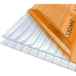 Axiome Axiome 10mm Polycarbonate Clear Twinwall Sheet 1000 x 2500mm - 37024 - from Toolstation