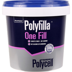 Polycell Trade Polycell Trade Polyfilla Ready Mixed One Fill Filler 1L - 37090 - from Toolstation