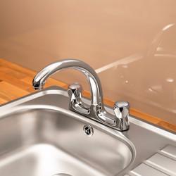 Ebb + Flo Contract Deck Mixer Kitchen Tap
