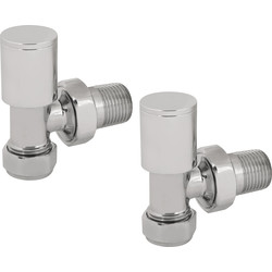 Reina Portland Chrome Valve Angled - 37169 - from Toolstation