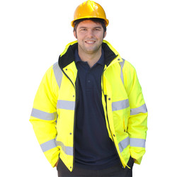Hi Vis Bomber Jacket Yellow Large - 37283 - from Toolstation