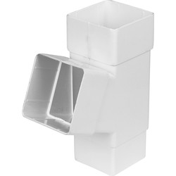 Aquaflow Square Pipe Branch 112.5° White - 37375 - from Toolstation
