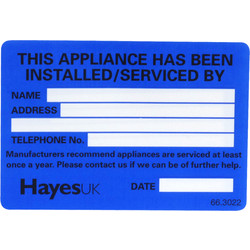 Installed Service Tags - 37411 - from Toolstation