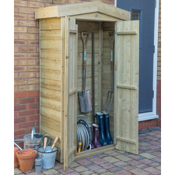 Forest Forest Garden Pressure Treated Tall Garden Store Apex Overlap 183 x 110 x 51cm - 37485 - from Toolstation