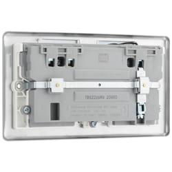 BG Brushed Steel 13A White Insert WiFi Extender & USB Socket