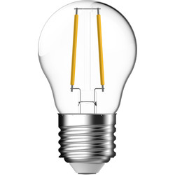 Energetic Lighting Energetic LED Filament Ball Dimmable Lamp Clear 4.8W ES 470lm - 37549 - from Toolstation