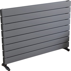 Ximax Ximax Oxford Duo Horizontal Designer Radiator 595 x 900mm 3010Btu Silver - 37645 - from Toolstation