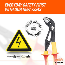 Bahco VDE Slip Joint Pliers