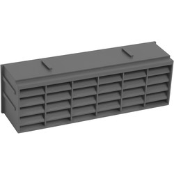 9 x 3 Air Brick Anthracite - 37720 - from Toolstation