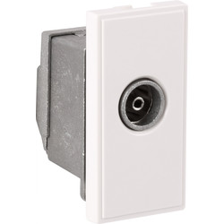 Euro Module TV/SAT Outlet TV Outlet White - 37761 - from Toolstation