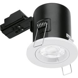Enlite Enlite Fixed Fire Rated GU10 Downlight EN-FD101W White - 38081 - from Toolstation