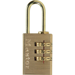 Master Lock Master Lock Combination Padlock Brass 30 x 56 x 14mm - 38106 - from Toolstation