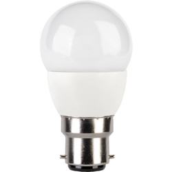 Corby Lighting Corby Lighting LED Mini Globe Frosted Lamp 6W  B22/BC 470lm Warm White - 38154 - from Toolstation