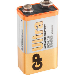 GP Ultra Alkaline Battery PP3 - 38240 - from Toolstation