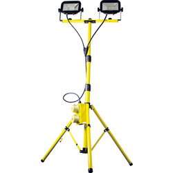 Luceco Luceco 110V Twin Head Tripod Work Light 2x22W - 38253 - from Toolstation