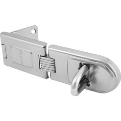 Master Lock Master Lock High Security Hinge Hasp & Staple Single 158 x 49 x 10mm - 38336 - from Toolstation